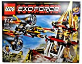 Lego Year 2007 Exo-Force Series Battle Scene Set # 8107 - FIGHT FOR THE GOLDEN TOWER with Sonic Raven with Moveable Wings, Missile Launcher and 2 Missiles; Golden Gate with Crank that Lower the Gate, Missile Launcher and 1 Missile Plus Hitomi Minifigure (Total Pieces: 571)