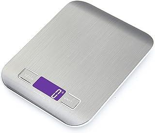comprar comparacion GPISEN Smart Digital Báscula con Pantalla LCD para Cocina de Acero Inoxidable, 5kg/11lbs, Balanza de Alimentos Multifuncio...