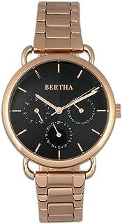Bertha - Gwen - Reloj de cuarzo japonés para mujer con fecha