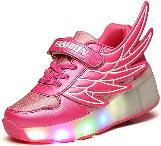 Kids diseño de alas de Youth Boy Light Up Ruedas Roller Zapatos LED Patines Sneakers