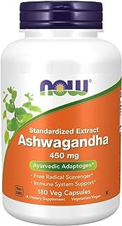 Ashwagandha EXTRACT 450mg (180 Cápsulas Vegetais) - Now Foo
