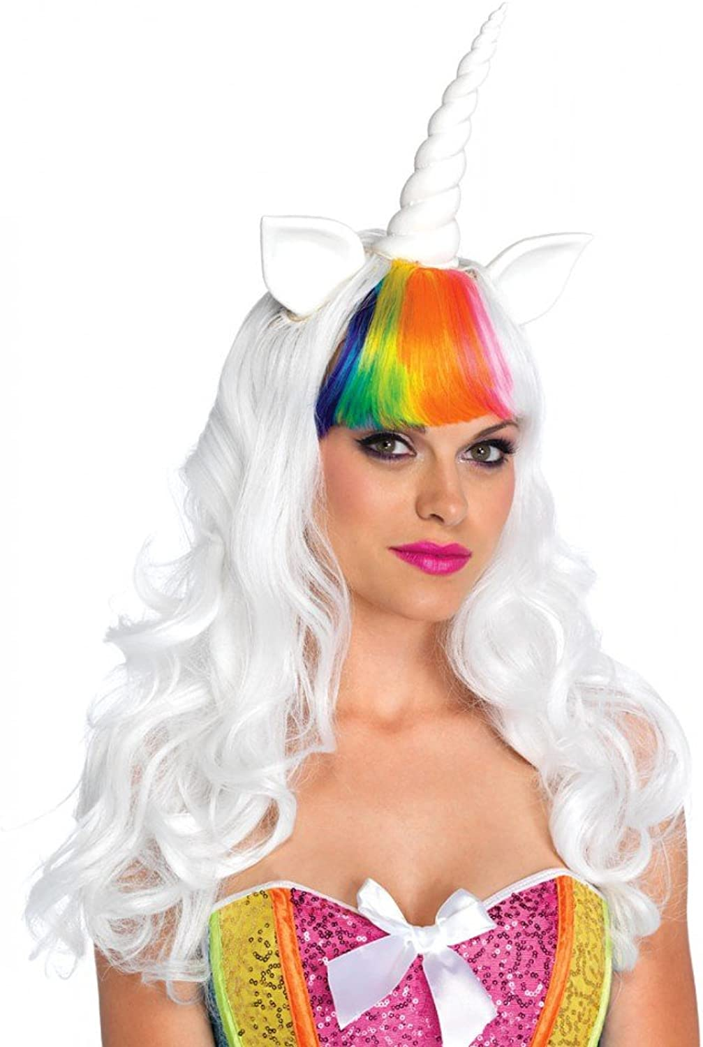 Leg Avenue Unicorn Wig Rainbow Tail