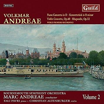 Andreae: Piano Concerto in D, Violin Concerto in F Minor, Rhapsodie for Violin and Orchestra