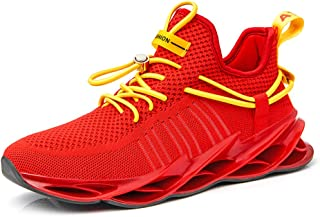 QZHIHE Men's Casual Running Walking Shoes Mesh Breathable Gym Shoes Blade Slip on Jogging Sneakers