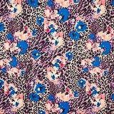 Fabulous Fabrics Jersey königsblau, Blume, 157cm breit