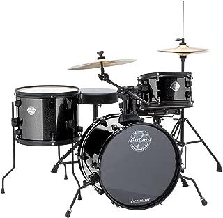 Ludwig LC178X016 Questlove Pocket Kit 4-piece Drum Set-Black Sparkle Finish, inch