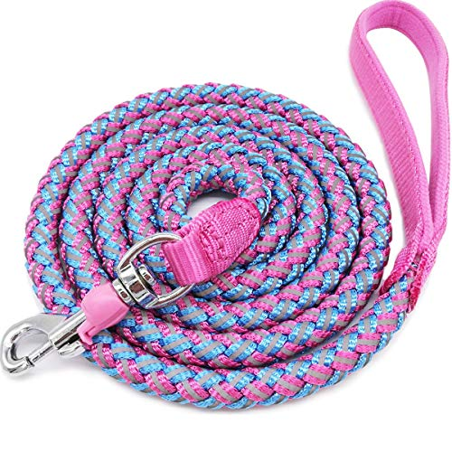 Mycicy Rope Dog Leash - 4ft 6ft 10ft Mountain Climbing Pink Dog Leash -...
