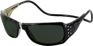 Clic Monarch Gem Bifocal Sun Reader Designer Reading Glasses, Black w/ Rhinestones, +2.00