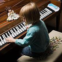 電子ピアノステッカーピアノキーボードステッカー透明PVCピアノステッカーピアノキーボードステッカー61/88キー電子ピアノ(black)