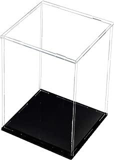 Lanscoee フィギュアケース ディスプレイケース コレクションケース (台座黒, 内寸 横長さ15*奥行15* 高さ25cm)