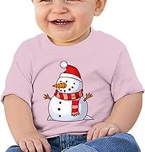 Christmas Snowman Fun Graphic Baby O-neck T-Shirt Cotton