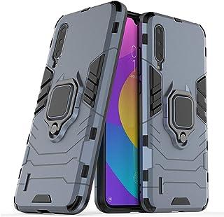 متوافق مع هاتف Xiaomi Mi A3 Lite, Mi 9 Lite, Mi CC9، حامل حلقي معدني صلب مقاوم للصدمات (يعمل مع حامل السيارة المغناطيسية) ...