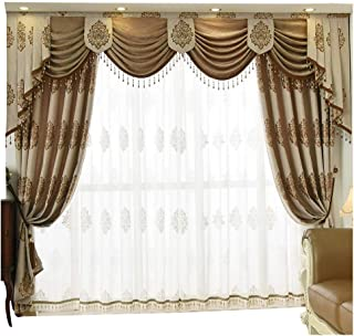 Queen's House Luxury Window Curtain Living Room Drapes 52''×84''