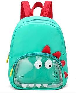 Schoolbag Kids Double Shoulder Bag Kindergarten Bag Cute Cartoon Animal Boys and Girls Baby Travel Snack Childrens Backpack Dinosaur School Bag