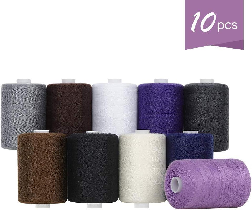 online shop HAITRAL Sewing Threads Set Super-cheap - 10 Thread Colors Cotton Sew