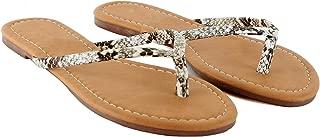 Guilty Heart Womens Beach Slip On Thong Flip Flop - Casual Comfortable Flat Sandal