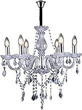 Lustre de Cristal para 6 Lâmpadas E14 Glam Taschibra Transparente