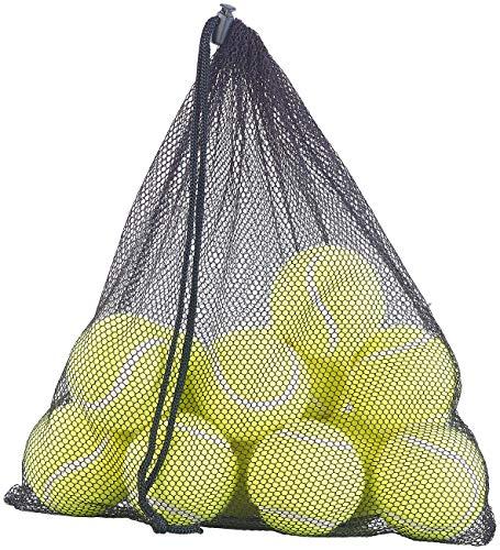 Speeron Tennis-Bälle: 12er-Set Tennisbälle für Fortgeschrittene, 65 mm Ø, gelb, Tragenetz (Tennisbälle Hund)