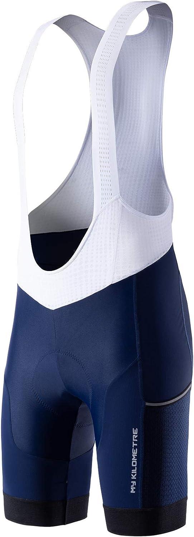 MY KILOMETRE Mens Cycling Bib Shorts Pockets 5% OFF New color Big Padde Side with