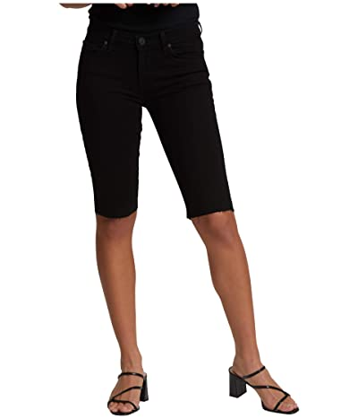 Hudson Jeans Amelia Cutoffs Knee Shorts in Black (Black) Women