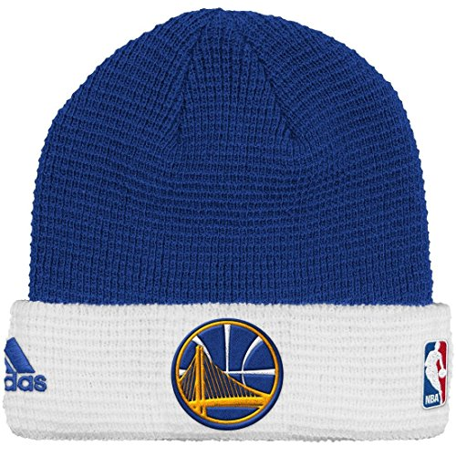 Golden State Warriors Adidas NBA 2015 Authentic Team Cuffed Knit Hat Sombrero