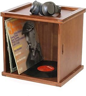 FACAZ Caja de Almacenamiento de Discos de Vinilo LP, cafetería, salón de Baile, Barra de Ocio, Escritorio, Estante de Alma...