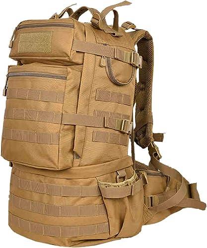 Sac à dos tactique, sac de montagne de grande capacité en plein air de 50L, multi fonction, hommes et femmes, imperméable, seul soldat, randonnée tactique, camping en plein air, longue distance, rando