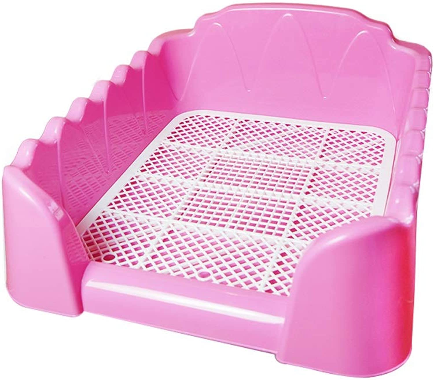 FUTER Pet Dog Toilet Small Dog Dog Supplies Urinal Basin Easy To Clean Pull The Potty Pet Supplies (color   Pink)