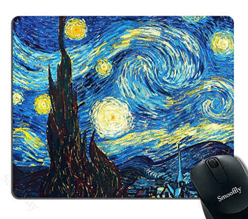 Smooffly The Starring Night Customized Rectangle Non-Slip Rubber Mousepad Gaming Mouse Pad mat