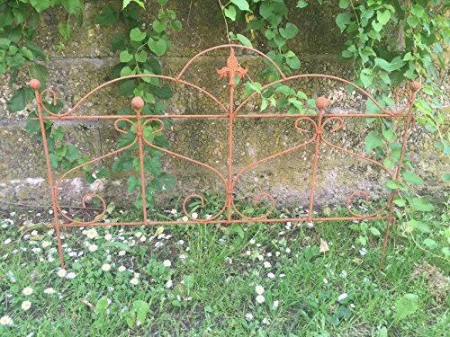 Gerry Beetzaun Gartenzaun Zaun Zaunelement Rankhilfe Metall Eisen Rost Deko 55cm hoch x 80cm lang