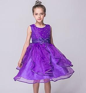 (チェリーレッド) CherryRed 子供 ドレス ワンピース フォーマル キッズ ベビー エレガント トレーン ドレス 結婚式 演奏会 ピアノ 発表会 女の子 ファション 130 パープル
