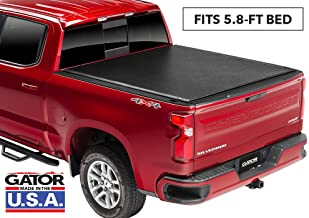 Gator ETX Soft Roll Up Truck Bed Tonneau Cover | 137245 | fits 2019 GMC Sierra/Chevy Silverado 1500 (New Body Style), 5.8' Bed | Made in the USA