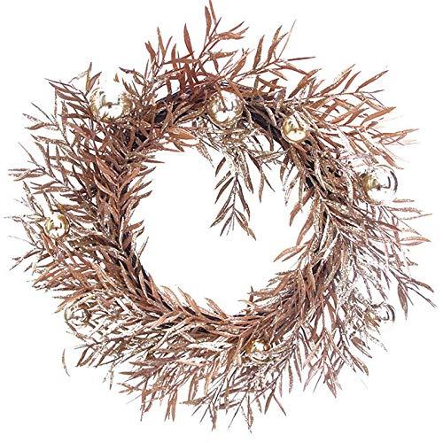 VHVCX Ringraziamento Sala Cervi Di Arte Del Panno Corona Rattan Reed Corona Ghirlanda Di Natale Ornamenti Feste Home Decor