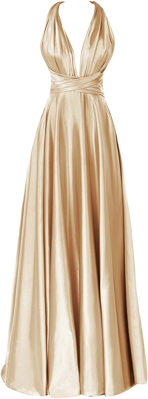 Dora Bridal Women's Deep V Backless Floor Length Formal Evening Dress