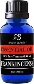 Radha Beauty Frankincense Essential Oil 10ml - 100% Pure & Therapeutic Grade, Steam Distilled for Aromatherapy, Relaxation...