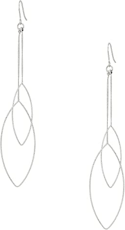 Silver Chain And Double Teardrop Fishhook Earrings