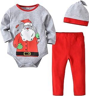 Fairy Baby Toddler Baby Unisex Christmas Clothes Shirt+Cap+Pant Pajamas Set