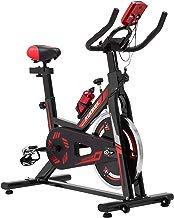 KUOKEL K608 Bicicleta de Spinning Bicicleta estática con Rueda de inercia Resistencia Variable Digital Pantalla LCD Soporte de Agua Asiento y Manillar Ajustables Profesional Uso doméstico