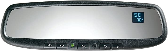 Gentex 50-GENK50A4 GENK50A Auto-Dimming Mirror with Compass, Temperature, Homelink and Aftermarket Wiring Harness