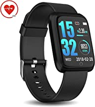 DoSmarter Fitness Tracker with Heart Rate Monitor, Waterproof Pedometer Running Watch with Step Counter, Sleep Monitor, Calorie Counter Compatible with iOS & Android Phone