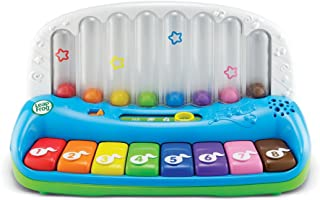 LeapFrog Baby Electronic Pop & Play Learning Musical Piano - Bilingual Music Keyboard, 80-19204E Multi Color