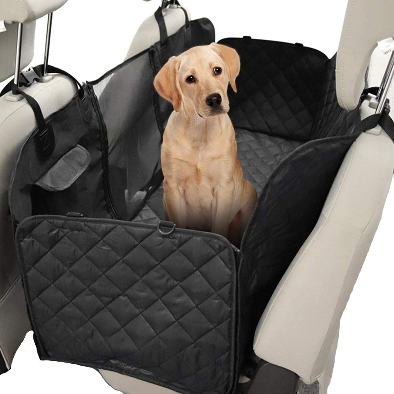 DINGG Pet Car Seat Cover for Pets Dog Seat Cover Car Hammock with Mesh Window Pet Backseat Predector Mat Pet Seat Cover Dod Hammock