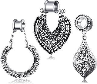 gauges with dangle earrings