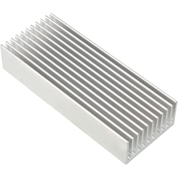 NA Aluminum heatsink Circuit Board Cooling fin Silver Tone 150 mm x 20 mm x 6 mm for LED semiconductor Integrated Circuit Device