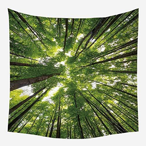 Naturaleza tapiz de pared árbol bosque cielo estrellado paisaje psicodélico tela de pared tapiz tela de fondo A11 73x95cm