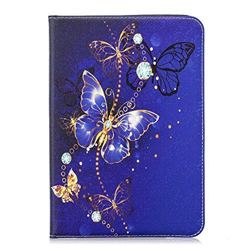 MoEvn Custodia per Samsung Tab S2 8.0, Pelle PU Cover per Samsung Galaxy Tab S2 8.0 Pollice T710 T715 Tablet, Libro Portafoglio Protezione Copertura con Supporto e Porta Carte Funzione (Farfalla 1)