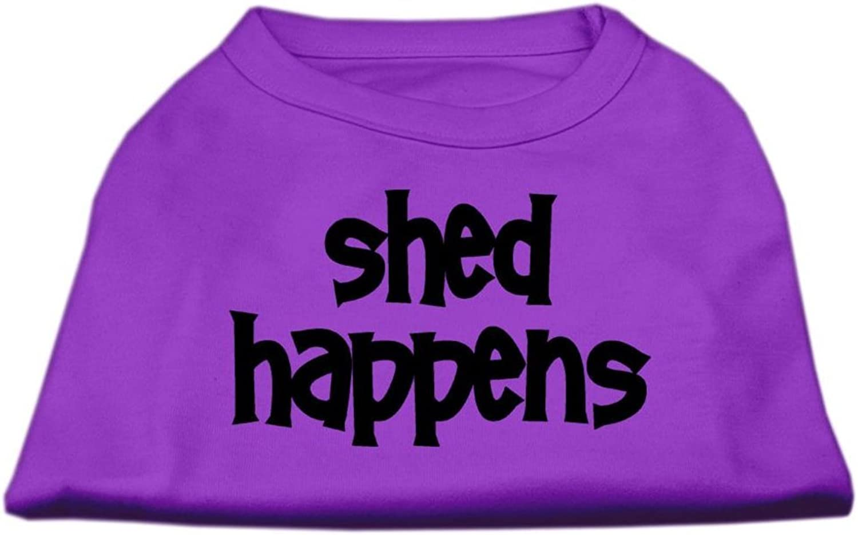 Dog   Cat   Pet Charms Shed Happens Screen Print Shirt Purple XXL (18)