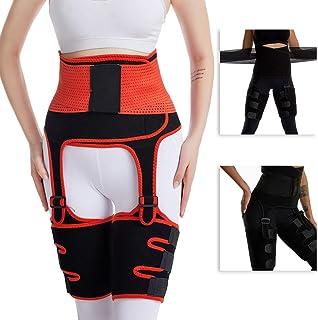 النساء 3 في 1 تريبر الفخذ عالية الخصر ملابس داخلية لتشكيل الجسم الساق تنحيف الأرداف رفع الخصر مدرب التخسيس حزام