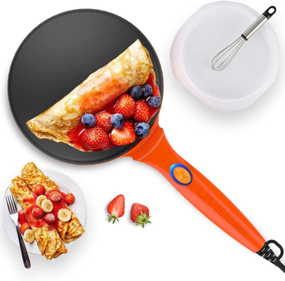 LIVEN Electric Crepe Maker with Power Sw Limited time trial price Cheap mail order specialty store Non-Stick Coating