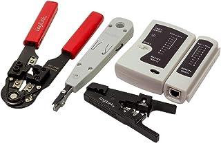 LogiLink WZ0012 5-i-1 nätverksverktygsset för RJ11, RJ12, RJ45 inkl. väska